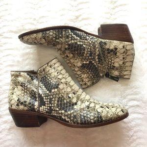Sam Edelman snakeskin booties